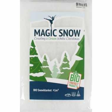 2x milieubewuste biologische sneeuwdekens 100 x 200 cm