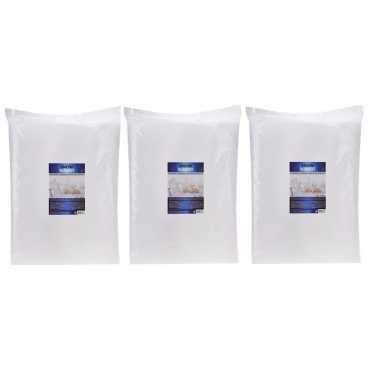 3x kunstsneeuw dekens / kleden 100 x 250 cm