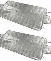2x anti sneeuw vorst autoraam dekens 70 x 150 cm