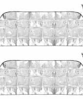 2x anti sneeuw vorst autoraam dekens groot 70 x 180 cm